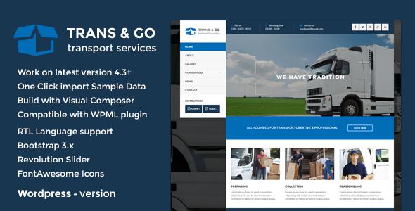 TransGo - Transport & Logistics WordPress Theme