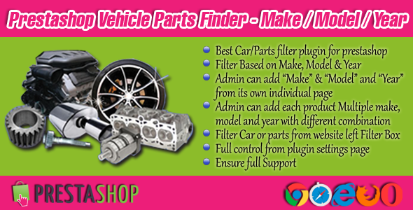 Prestashop Car/Parts Filter Plugin