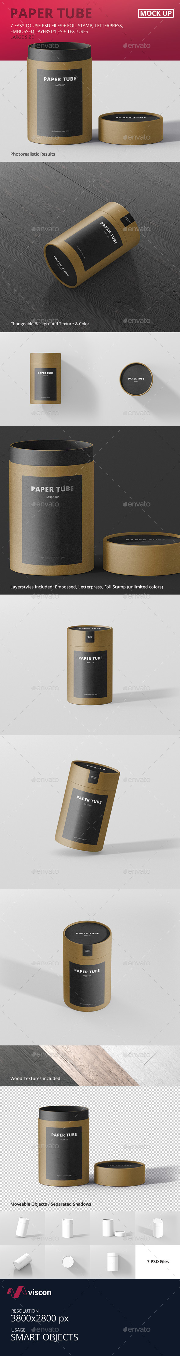 Paper Tube Packaging Mock-Up - Large