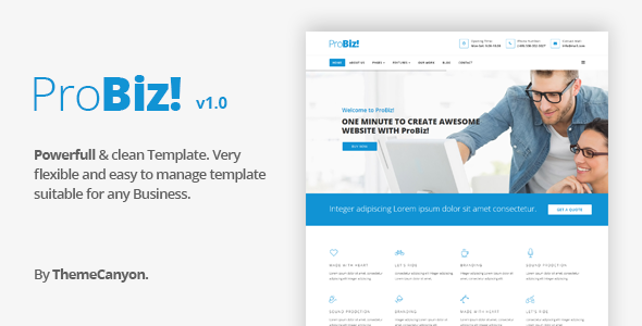 ProBiz! - Multipurpose Business HTML5 Template