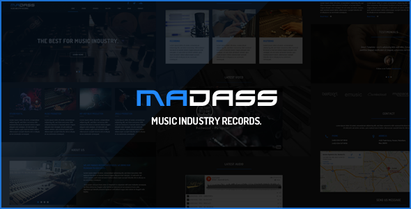 Image of Madass - Music Industry HTML Template