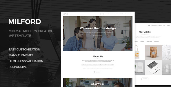 Milford Agency - Minimal, Clean & Creative  WP Corporate Business Theme
