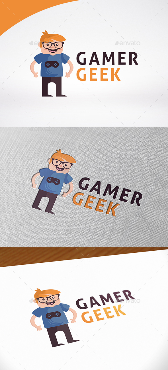 Gamer Geek Logo Template