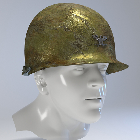 USA Army Helmet from Korea War - 3DOcean Item for Sale