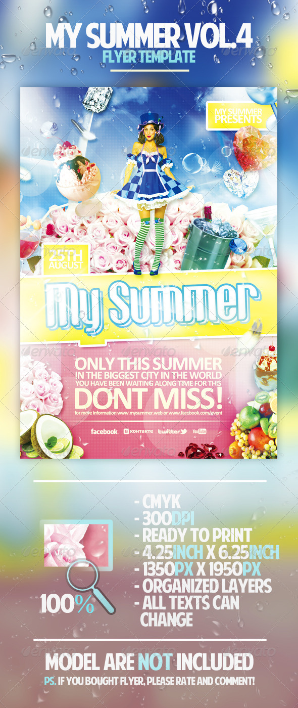 My Summer Vol.4 Flyer Template - Clubs & Parties Events