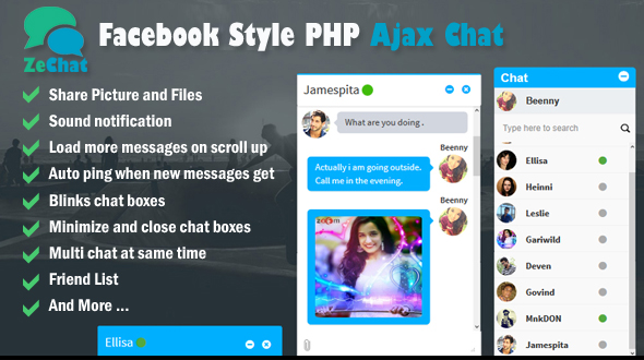 Download Facebook Style Php Ajax Chat - Zechat nulled download
