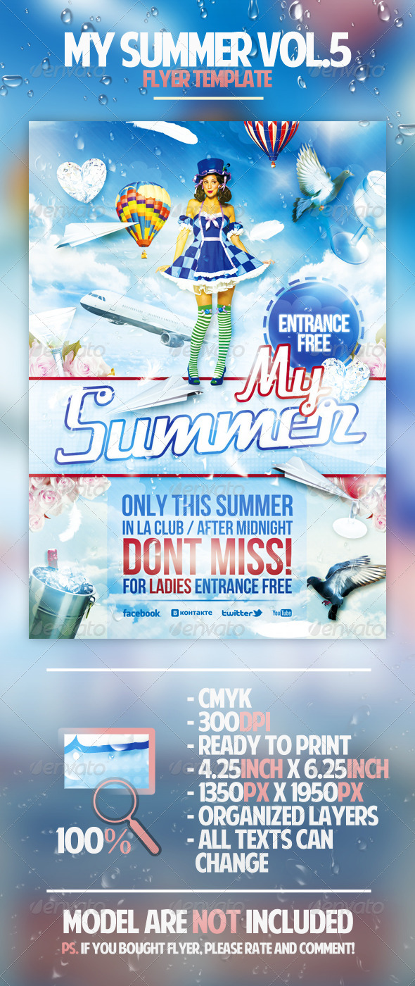 My Summer Vol.5 Flyer Template - Clubs & Parties Events