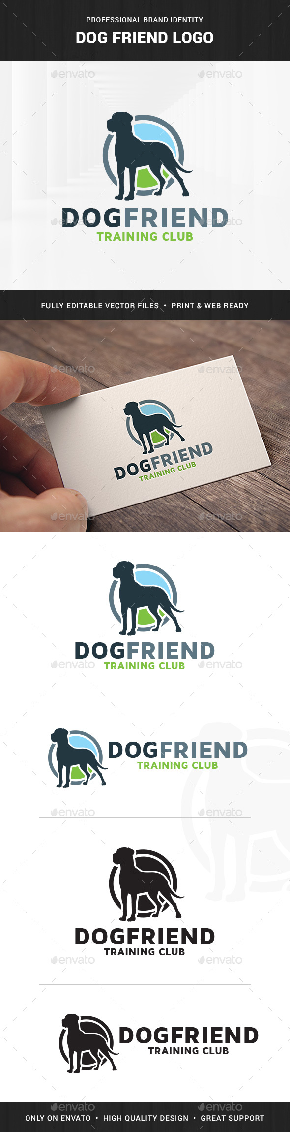 Dog Friend Logo Template