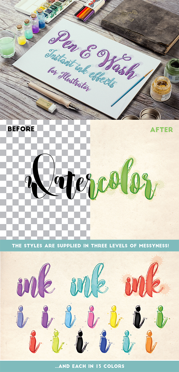 Pen and Wash: Instant Ink Effects for Illustrator