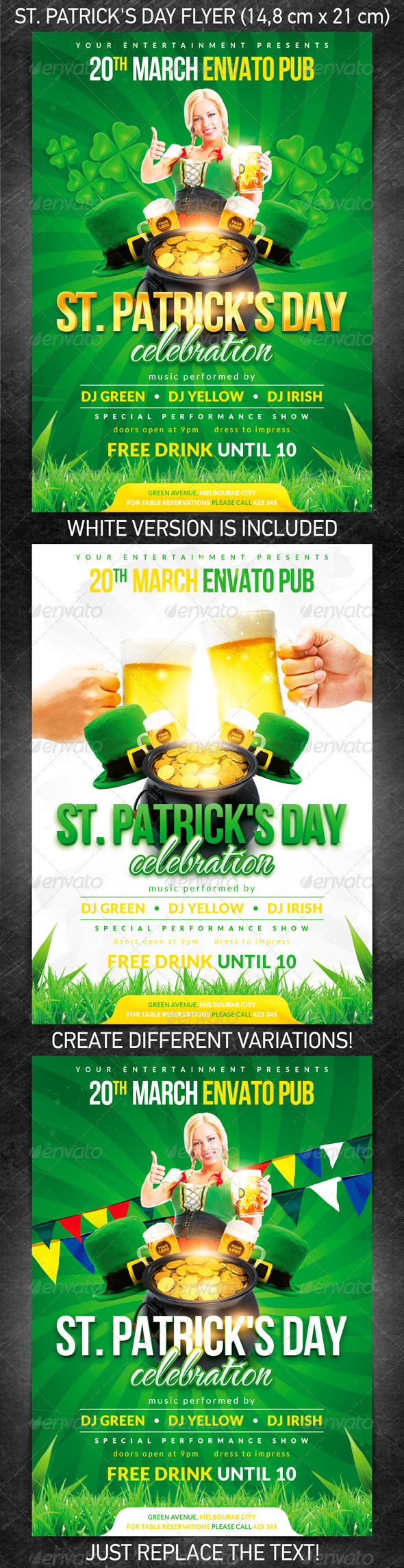 GraphicRiver St Patrick s Day Flyer 1647438