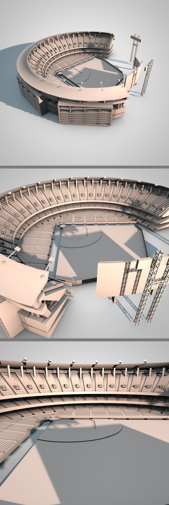 Baseball Stadium - 3DOcean Item for Sale