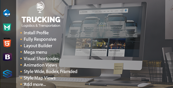 Image of Trucking - Transportation & Commerce Drupal Theme