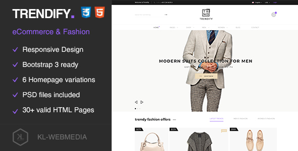 Trendify - Fashion eCommerce HTML5 Template