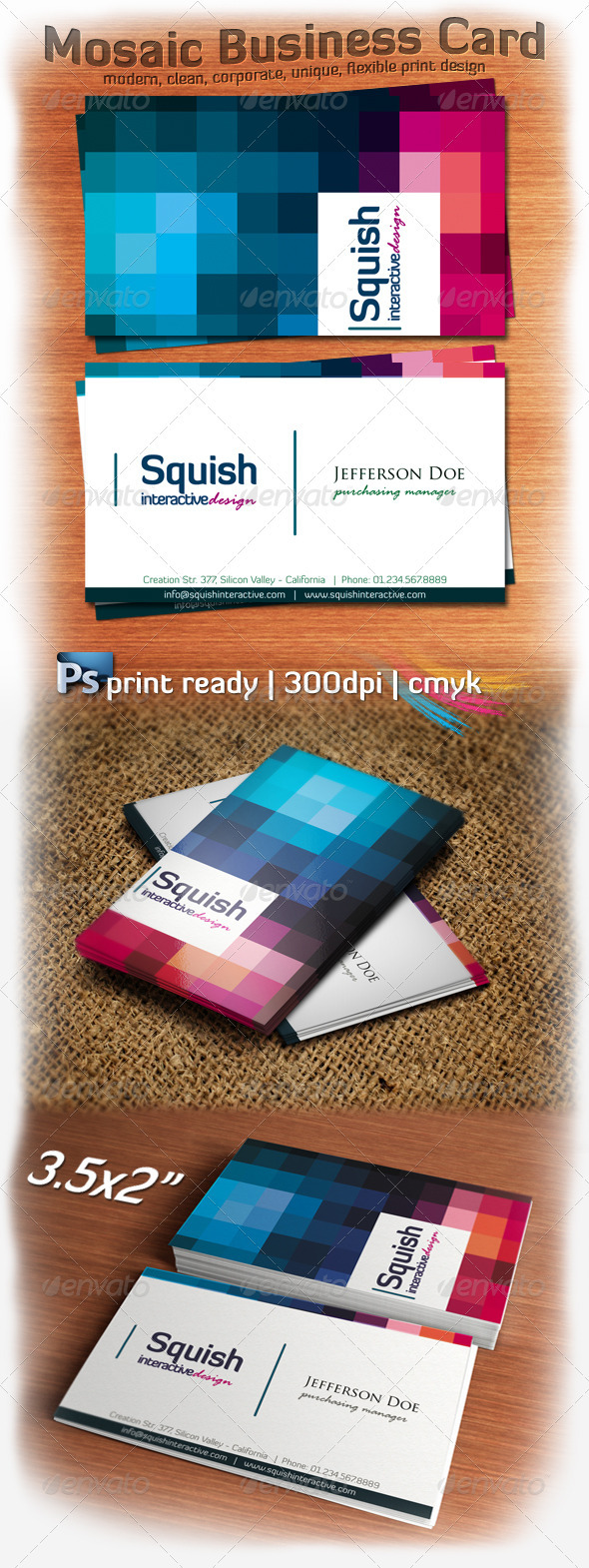 Mosaic Business Card - Corporate Business Cards