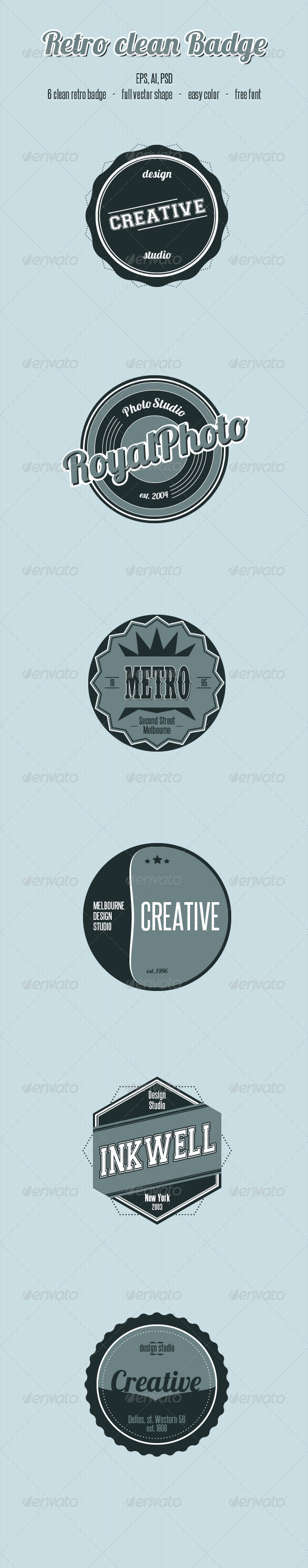 GraphicRiver Retro Clean Badge 1648067