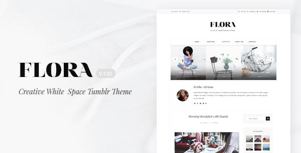 Flora | Responsive Tumblr Theme