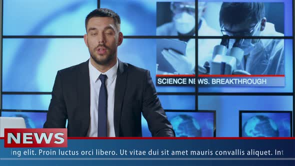 Download News Presenter Speaking About Medical Researches nulled download