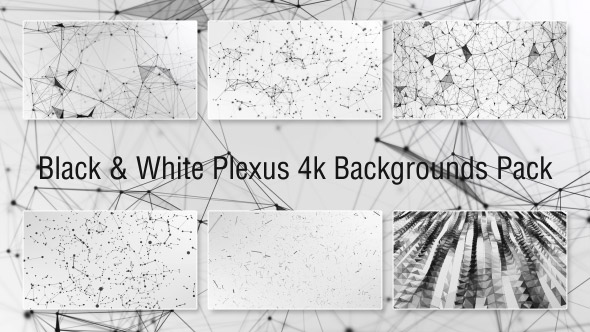 Black & White Plexus Taustat Pack - Technology Taustat Motion Graphics
