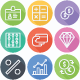 Shopping - Finance and eCommerce Flat Line Icons