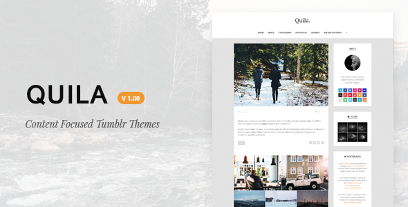 Quila | Clean Content-Focused Tumblr Theme