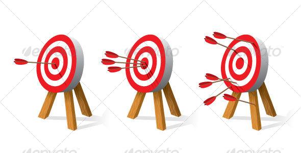archery targets graphicriver. Black Bedroom Furniture Sets. Home Design Ideas