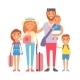 Vacation Family Vector Illustration