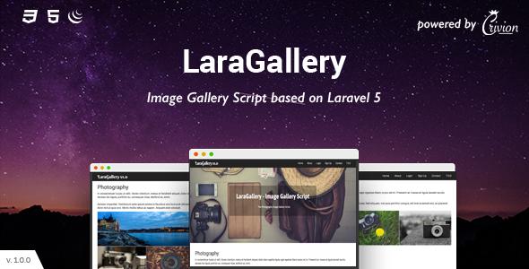 LaraGallery - Image Gallery Script