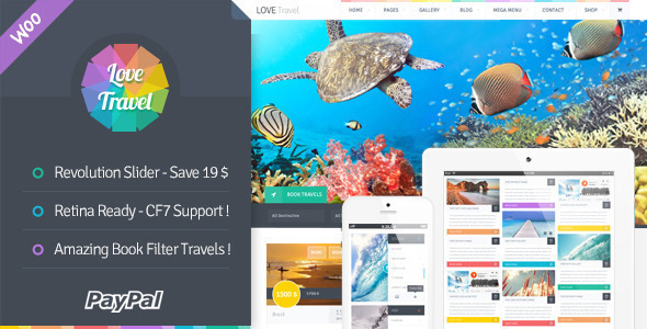01 theme preview.  large preview - Love Travel - Creative Travel Agency WordPress