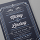 Vintage Wedding Card/Invitation