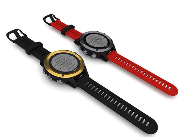 Sports GPS Watch - Garmin Fenix 3 - Blender 3D model - 3DOcean Item for Sale