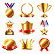 Download Vector Awards and Medals Icons Vector Set