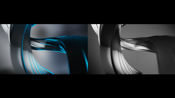 Sininen Chrome Metal Spiral - Abstract Taustat Motion Graphics