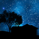 Silhouette Of Countryside House And Trees At Night - 7
