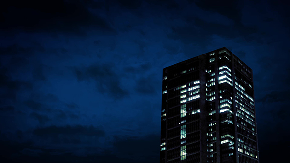 Office Building At Night - Taustat Motion Graphics