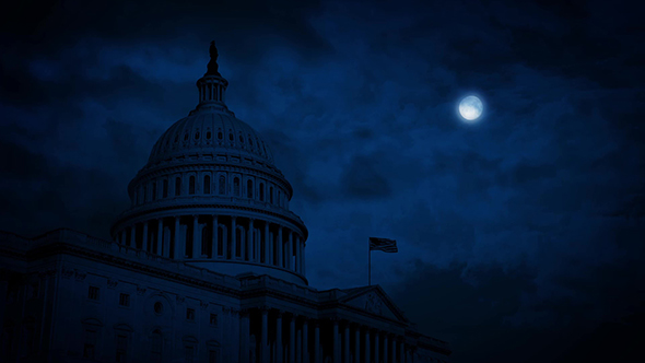 US Capitol Building At Night - Taustat Motion Graphics