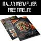 Italian Menu Flyer