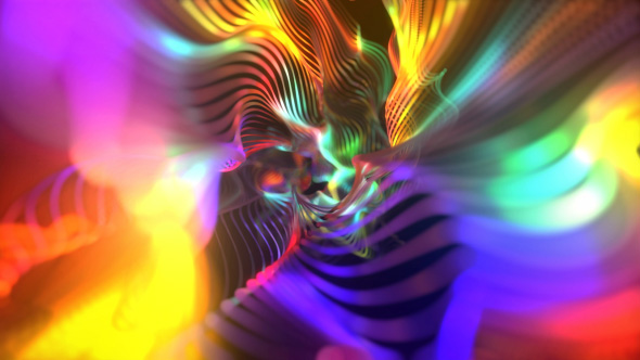 Neon Snakes Flow - Abstract Taustat Motion Graphics