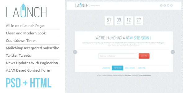Launch HTML Theme - Creative Site Templates