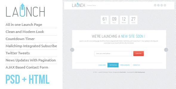 ThemeForest Launch HTML Theme 1650371