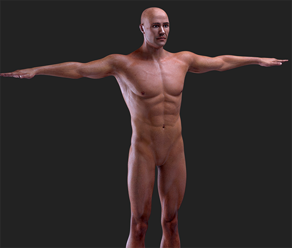 Hyper Realistic Male Human- 8K Maps - 3DOcean Item for Sale