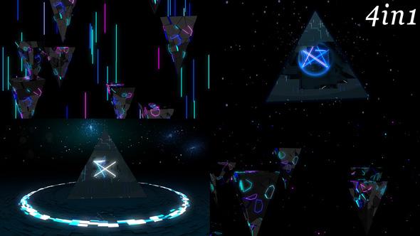 Download Pulse Pyramid - VJ Loop Pack (4in1) nulled download