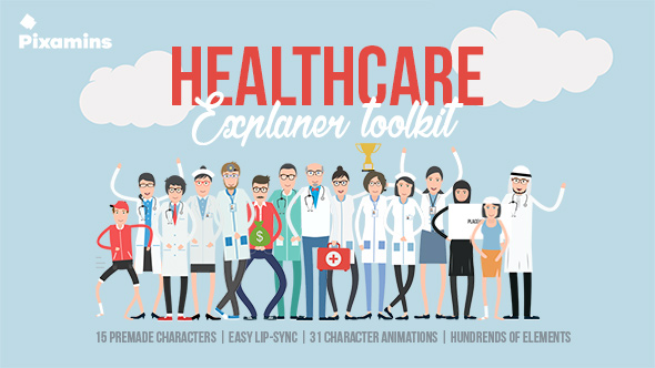 Healthcare Explainer Toolkit-Videohive中文最全的AE After Effects素材分享平台