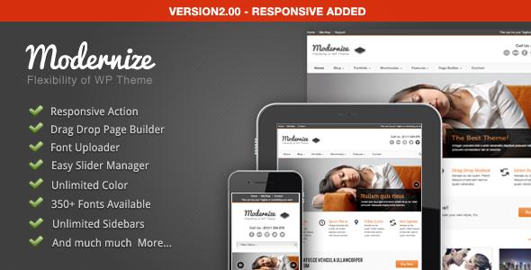 ThemeForest Modernize Flexibility of Wordpress 1264247