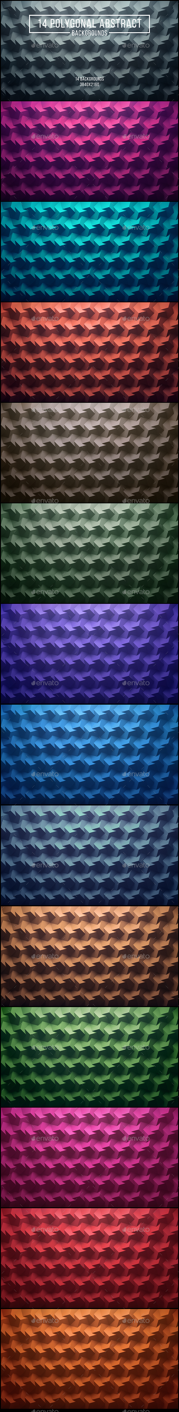 14 Polygonal Abstract Backgrounds 2