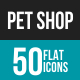Pet Shop Flat Multicolor Icons