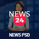 News 24 - News & Magazine PSD Template