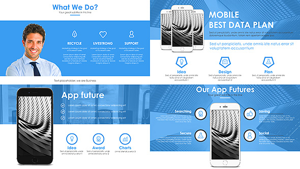 corporate presentation business templateturboart | videohive, Powerpoint templates
