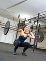 Clean and jerk at the gym