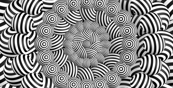 Elegantti Hypnotic Trippy Escher tausta Visualizations - Abstract Taustat Motion Graphics