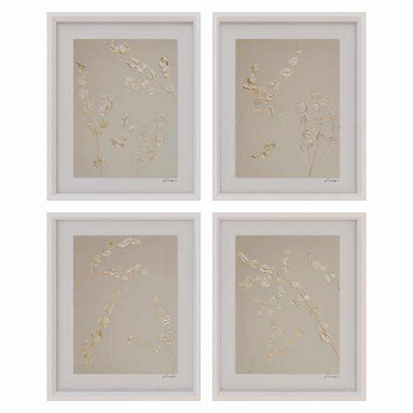 Charlotte Morgan Metallic Eucalyptus Stems - 3DOcean Item for Sale